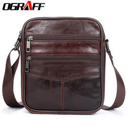 OGRAFF Men Bag Small Shoulder Bags Handbags Genuine Leather Bags Men Messenger  Cross Body Office For Male Luxury Designer 3b8d9b08e6ee8