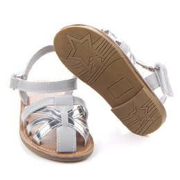 hard soled shoes UK - Kids Shoes Girls Sandals Summer Baby Shoes Hard Sole Infants Girls First Walkers 0-18Months