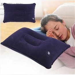 Travel Pillow Free Shipping NZ - Wholesales Free shipping Portable Fold Outdoor Travel Sleep Pillow Air Inflatable Cushion Break Rest