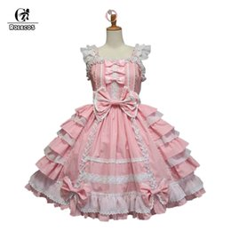 Discount girls medieval dresses - ROLECOS Hot Sale Women Summer Sweet Lolita Dress Chiffon Lace Medieval Gothic Princess Costumes for Girl