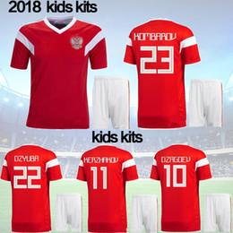 416944584 2018 World Cup Russia Soccer Jerseys 2018 New Men Russian Home red Football  uniform Thai Quality  10 DZAGOEV  11 SMOLOV KOKORIN Shirts