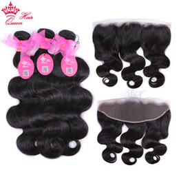 $enCountryForm.capitalKeyWord Australia - Brazilian Virgin Hair Body Wave With 13x4 Lace Frontal Human Hair Extensions Weave Bundles Wefts 3 Bundles With Closure Fast Free Shipping