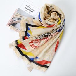 $enCountryForm.capitalKeyWord UK - Guttavalli Women Stamps Tassels Long Shawl Female Geometric Wraps Summer Chevron Sunscreen Stripes Skinny Letters Soft Scarves