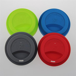Mug foods online shopping - Creative Leak Proof Monolayer Cups Cap Mug Tumbler Suction Seal Lid Covers Tool Food Grade Silicone Cup Cover Anti Dust ss aa