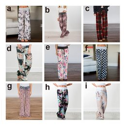 Discount hottest girl yoga pants - Plus Size Women Casual Autumn Loose Pants Floral Print Drawstring Wide Leg pants High Waist Long Straight Trouers Sports