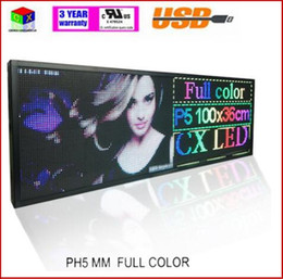Displaying boarD online shopping - RGB Full color P5 Indoor LED Message Sign Moving Scrolling WIFI Display Board Free Ship for shop windows