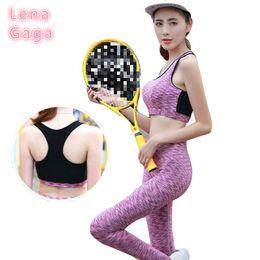Yoga Bra Pants Canada - Brand Sports Suit Women 2017 Yoga Set Plus Size Two Piece Yoga Sets Women Gym Clothes Fitness Bra Pants Sports Wear Set Running