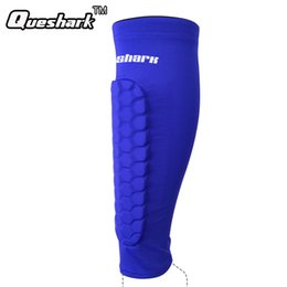 Ingrosso 1Pc Calcio Parastinchi Protezione Calcio Honeycomb Compressione Anti-crash Basket Leg Calf Sleeves Ciclismo Running Shinguard