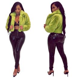 $enCountryForm.capitalKeyWord Canada - Autumn Faux Fur Coat Women Jacket Open Stitch Basic Short Jackets Women Winter Warm Thick Furry Long Sleeve Casual Outwear Coat