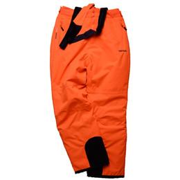 Warm Waterproof Pants Men Australia - Wholesale- Skiing pants men and women Snowboarding ski trousers Female male orange winter Sportswear Breathable Waterproof Waterproof Warm