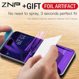 Purple Light Film NZ - ZNP Full Cover Purple Light Hydrogel Film For Huawei P20 Pro Lite P10 Plus Honor 9 8 Lite 10 V10 Screen Protector Film Not Glass