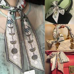 $enCountryForm.capitalKeyWord NZ - Tarot Moon Stars Print Fashion Handbag Print Small Rectangle Scarf Headband Brand Silk Scarves Female Can For Handbags