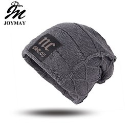 womens baggy beanie hats UK - Joymay Unisex Womens Mens S Camping Hat Winter Beanie Baggy Warm Wool Cap Hot WM046
