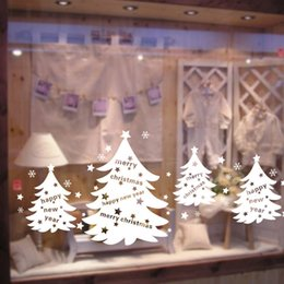 $enCountryForm.capitalKeyWord NZ - Christmas Tree Christmas Decoration for Home Snowman Elk Sled Santa Claus Wall Sticker Shop Glass Window Decorative Sticker Y18102909