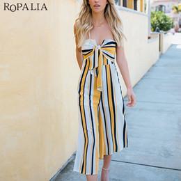 $enCountryForm.capitalKeyWord Australia - ROPALIA Women Strapless Striped Jumpsuit Casual Striped Loose Trousers Leotard Catsuit Combinaison Wide Leg Rompers