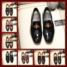 Men Alligators Shoes NZ - 18ss Luxury Design Men Dress Shoes Genuine Cow Leather Derby Potent Man Led Shoes Party Alligator Top Quality Size 38-45