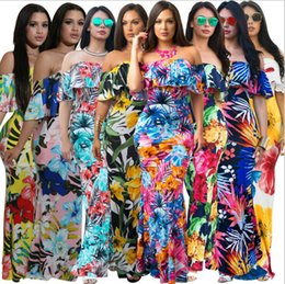 1b7325cdb22 Ruffles Off Shoulder Floral Dress Summer Party Bodycon Dress Short Sleeve  Ruffles Boho Dress Maternity Dresses OOA4901