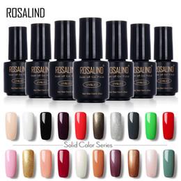 gel lak 2019 - ROSALIND 7ML 58 Colorful 01-30 UV LED Soak-off Gel Nail Polish Nail Art Gel Polish Semi Permanent Varnishes Lak discount
