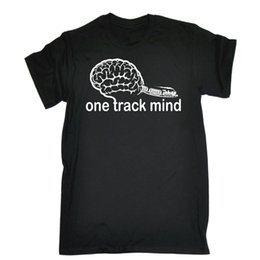 $enCountryForm.capitalKeyWord UK - ONE TRACK MIND TRAINS T-SHIRT Steam Train Engine Model Funny Birthday Gift 123t T Shirt Cotton Men Short Sleeve Tee Shirts