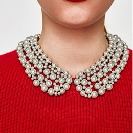 $enCountryForm.capitalKeyWord Canada - whole salePPG&PGG 2017 Winter Design Brand Fashion Imitation Pearls Collar Necklace Women Chunky Choker Bib Statement Necklaces