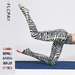 Sexy Yoga Pants Dance Australia - Sexy Zebra Stripe Leopard Women Running Yoga Slim Tight pants Female Stereo Printed Fitness Dance Exercises Yoga Pants Trousers