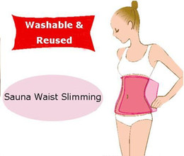 Wholesale Sauna Slimming Belt Belly Slimming Lose Weight Slim Patch Sauna Pink Waist Belt Shape up pack pc