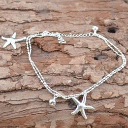 $enCountryForm.capitalKeyWord Australia - 1pcs Silver Color Starfish Chain Anklets Women Jewelry Beach Foot Ankle Jewelry barefoot Sandals Bracelets for Woman Anklet