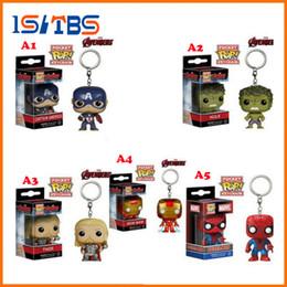 Plastic sPiders free shiPPing online shopping - 2018 Hot Sale Marvel avengers America s captain green giant thor deadpool spider man key chain DHL