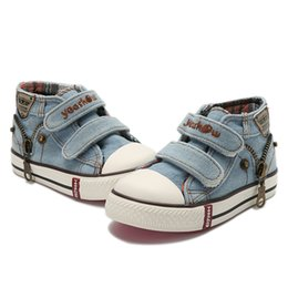 $enCountryForm.capitalKeyWord Australia - New 2018 Spring Canvas Children Shoes Boys Sneakers Brand Kids Shoes for Girls Jeans Denim Flat Boots Baby Toddler Shoes