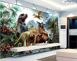 Textile Rolls NZ - 3d wallpaper on the wall custom photo mural Mountain dream forest dinosaur Home improvement living Room wallpaper for walls 3 d
