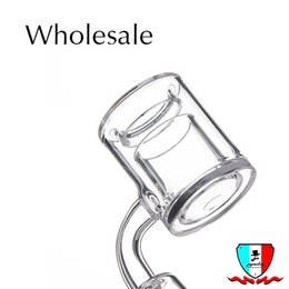 Double bowl glass pipes online shopping - 4mm Thick of Bottom Quartz Thermal Banger polished joint Double Tube Quartz Thermal Banger Nail For Glass Water Pipes glass bowl DHL