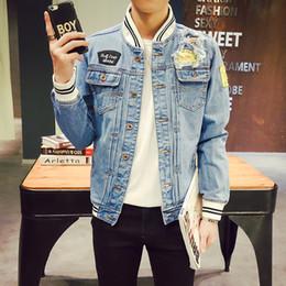 $enCountryForm.capitalKeyWord Canada - 2018 New Jacket Men Autumn Fashion Patch Design Slim Fit MensDenim Jackets Stand Collar Plus Size Men's Coats Jeans Outwear Mens