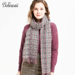 67870290d42c Discount winter scarf femme - Elegant Colorful Soft Foulard Cheveux Fashion  Oversized Long Scarf Shawl Winter