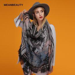 $enCountryForm.capitalKeyWord Australia - The wolf head pattern satin surface printing scarf fashion atmosphere retro cotton linen scarf spot scarves for women