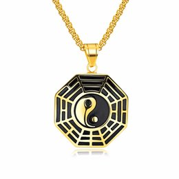 $enCountryForm.capitalKeyWord UK - Classic Chinese Mystical Yin Yang Pendant Necklace Stainless Steel Necklaces Bagua Pendant For Men Necklace Jewelry