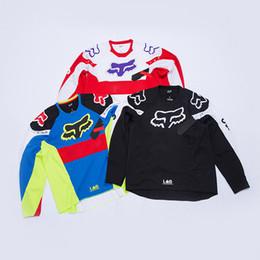 4d19a322d Box Logo Fox Racing Moto Jersey Tops Long Sleeve Sweatshirt Luxury Europe  Casual Street Pullover Sweater Outdoor Hoodies HFYMWY054