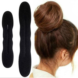 $enCountryForm.capitalKeyWord Canada - Hot Sale New Fashion 2x Hair Styling Magic Sponge Clip Foam Bun Curler Hairstyle Twist Maker Tool Accessories