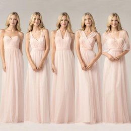 3850ef9e506 New Chiffon Bridesmaid Dresses Sweetheart Spring Summer Floor Length Long Convertible  Dresses Styles Maid Of Honor Gowns Custom Made