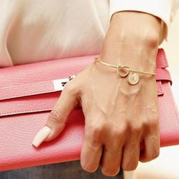Ingrosso Europa e Stati Uniti braccialetti annodati personalità selvaggia tre colori 26 lettere combinazione libera braccialetto braccialetto all'ingrosso nodo