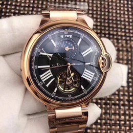 Discount mechanical moonphase - Luxury Brand New Automatic Mechanical Men Watch Leather Silver Rose Gold Transparent MoonPhase Watches Black Blue Tourbi