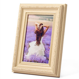 $enCountryForm.capitalKeyWord NZ - Exquisite Romantic Style Photo Frame For Home Decor 5-10 inch Resin Picture Frame Lovely Frame Wall Wedding Couple Best Gift Family Photos