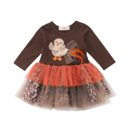 China 2018 Newborn Infant Baby Bodysuit Turkey Cartoon Dress Outfits Clothes Thanksgiving Short Sleeve Ball Gown Lace Cute Dresses cheap cute thanksgiving outfits suppliers