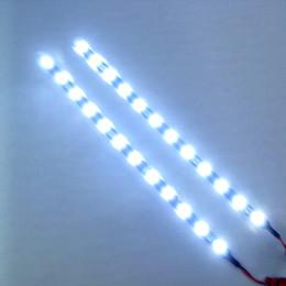 10pcs étanche voiture auto décoratif flexible bande de LED highpower 12v 30cm 15smd voiture LED lumière de jour 5 couleurs