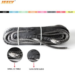 Winches For Atv Canada - Free Shipping 8MM 30M 12 Strand 100% Pure UHMWPE Synthetic Winch Rope With Thimble For ATV UTV 4WD 4X4 SUV OFF-ROAD