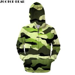 ee5ec98eb53 Camo green hoodies online shopping - Pea Green D Camo Zip Hoodies Casual  Hoody Men Sweatshirt