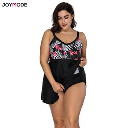 wholesale 2018 Plus Size Swimwear Women Skirt Takes One Piece Sexy Swimsuit  Padded Bra Over Bath Large Size Beachwer Bathing Suit d930c150857d