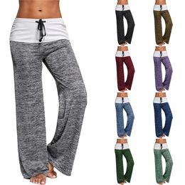 Discount yoga pants brands - Girls Women Yoga Pants Solid Color Casual Wide Leg Pants Women Fitness Clothes Female Sports Maternity Pants LA774