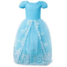 269c18f02822c Cinderella Costume Cosplay Dress Girls Summer Short Sleeve Print Princess  Party Dress Kids Halloween Christmas Birthday Dresses HH7-1432