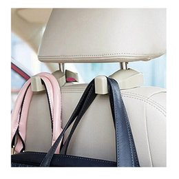 Discount car seats clothes - 3 colors 2nd generation Universal Car Headrest Hook Seat Back Hanger Holder Vehicle Organizer for Handbags Purses Coats