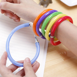 Pointed bracelets online shopping - Colorful Bracelet Ball Pen Cute Creative Cartoon Ballpoint Pen Bracelet Ball Point Pen Stationery Wrist Office School Supplies Gift